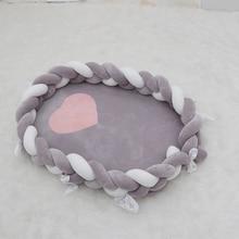 Crib Newborn-Baby Bed-Bassinet Nest Cotton for Braid Knot Elliptical Infant Kids 50--80cm