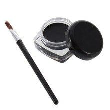 Moda delineador creme à prova dwaterproof água preto longa duração olho forro gel com escova conjunto compõem beleza comestics ferramentas tslm1