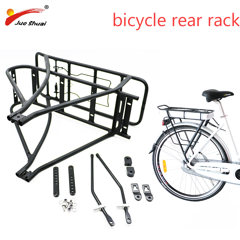 20/24/26 /27.5/28/29inch Bicycle Rear Rack Double Black Aluminum Hanger Electric Bicycle Battery Luggage Rack Bike Accessories|Bicycle Rack|   - AliExpress