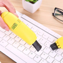 Mini USB Keyboard Vacuum Cleaner Dust Collector LAPTOP Keyboard Brush Dust Cleaner Office Computer Cleaning Dirt Remover Tools(China)