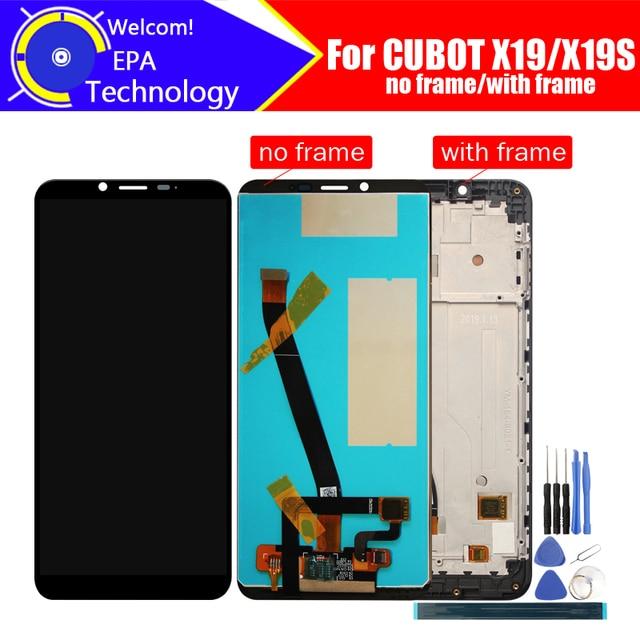 5.93 인치 CUBOT X19 LCD 디스플레이 + 터치 스크린 디지타이저 + 프레임 어셈블리 CUBOT X19S 용 100% 오리지널 LCD + 터치 디지타이저