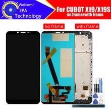 5,93 дюймовый CUBOT X19 ЖК дисплей + сенсорный экран дигитайзер + рамка в сборе 100% Оригинальный ЖК + сенсорный дигитайзер для CUBOT X19S