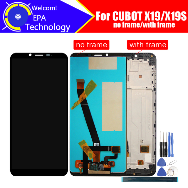 5.93 inch CUBOT X19 LCD Display+Touch Screen Digitizer+Frame Assembly 100% Original LCD+Touch Digitizer for CUBOT X19S