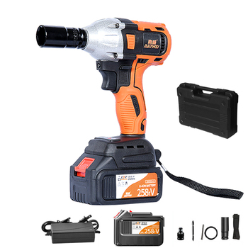 21V Brushless Electric Wrench Rechargeable Lithium-Ion Battery Cordless Impact Wrench Brushless Driver Installation Power Tools electric impact wrench 98 128 168 188vf electric brushless li ion battery wrench 10mm chuk with box cordless speed control power