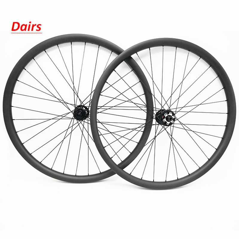 Ultralight carbon mtb wheels 27.5er 27mm width 25mm depth carbon wheels mtb front powerway M42 rear M82 hub bike wheel 1215g