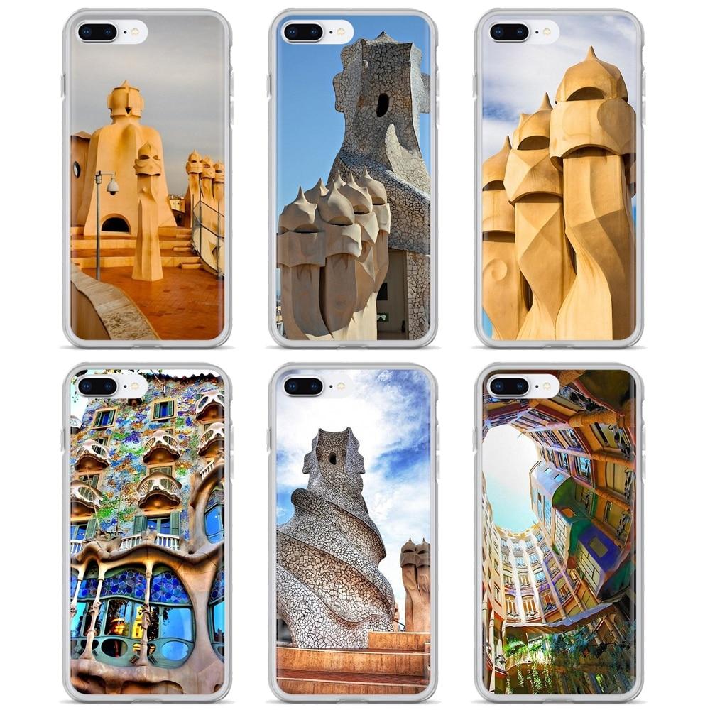 Silicone Cover Bag Casa Mila La Pedrera Barcelona For LG G2 G3 G4 Mini G5 G6 G7 Q6 Q7 Q8 Q9 V10 V20 V30 X Power 2 3 Spirit