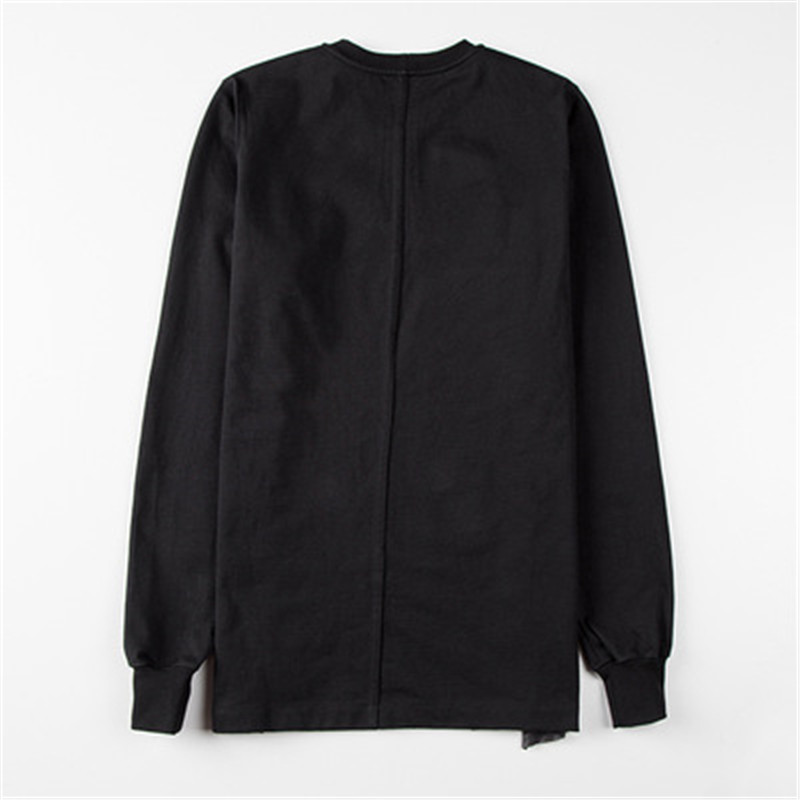 2019ss Men 100% Cotton Women Full Sleeve Shirts Ro Tops Tees Owen Gothic Black High Street Patchwork Shirts Camisetas Hombre - 5