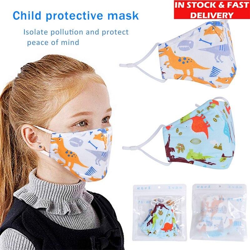 5/10pcs Children KN95 Dust Mouth Face Masks Cartoon Disposable Prints Cute Boy Girl Breathable Anti-Pollution Sunscreen Mask