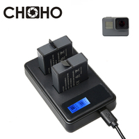 Batterie Dual Ladegerät AHDBT-501 USB Kabel AHDBT501 AHDBT 501 LCD Display für Go Pro HERO 8 6 7 5 Schwarz NEUE Zubehör