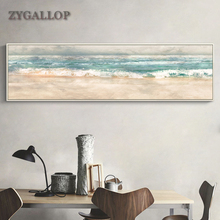 ZYGALLOP Sea Wave Abstract Canvas Painting Posters and Prints Scandinavian Wall Art Home Decor Living Room Decoration Paintings