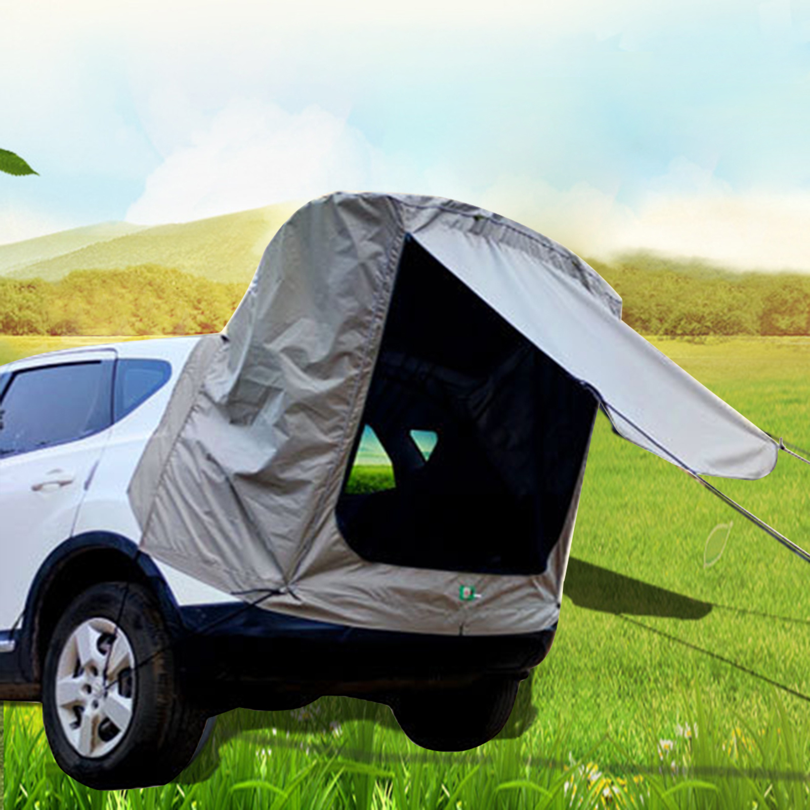 Oxford Cloth Anti-uv Car Rear Trunk Tent Silver-coated Rainproof Tourist Canopy Self-driving Tail Ledger Windproof Suv Awning