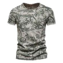Men Clothing Print-Shirt O-Neck Hawaii-Style High-Quality Summer 100%Cotton Casual NEGIZBER