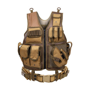 Tactical Vest Military Combat Armor Vests Mens Tactical Hunting Vest Army Adjustable Armor Outdoor CS Training Vest Airsoft 6