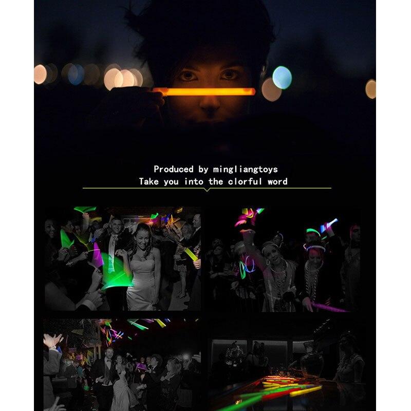 Флуоресцентные питьевые соломы светящиеся вечерние свадебные принадлежности Бар Декор