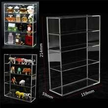214x159x59mm de alto brillo acrílico muestra caja de exhibición de la caja de presentación de la puerta deslizante para Mini Perfume exhibidor de botellas de joyería artesanal