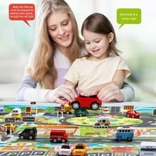 Early Childhood Education Road Sign Large Traffic Scene Map Parking Lot Model Play Car Toy