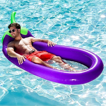 PVC Inflatable Foldable Summer Beach Sports Floating Row Swimming Pool with Net Eggplant