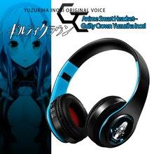 Anime Guilty Crown Yuzuriha Inori Cosplay Headset Over Head Game Bluetooth Headphone Fashion Student Gift