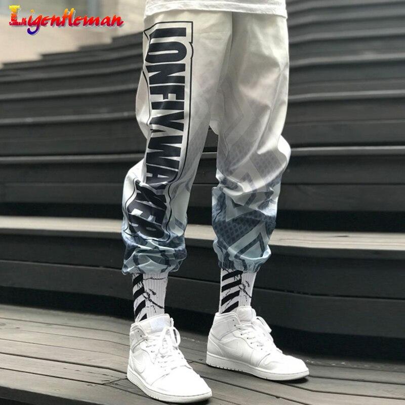 Men Streetwear Pants Loose Sport Elastic Waist Ankle Trousers Men Casual Fitness Pants Couples Harem Pants Gradient Jogger Pants