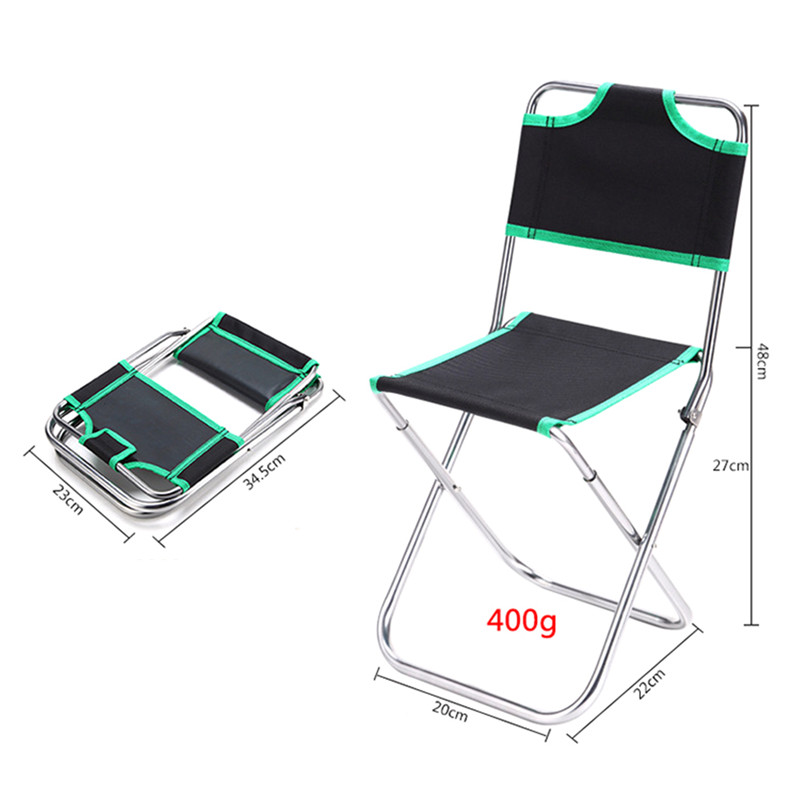 Simple 1PCS Foldable Fishing Chair Beach Camping Chair Ultralight Folding Outdoor Portable Extended Hiking Seat Aluminum Alloy