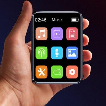 Yescool X1 w pełni dotykowy ekran IPS Bluetooth wielojęzyczna muzyka wideo zmienna prędkość odtwarzanie radia FM e-book nagrywanie głosu odtwarzacz MP4