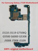 Trabalho completo 100% original desbloqueado para samsung galaxy j7109 placa de placa de circuito mãe lógica Motherboards Telefone móvel     -