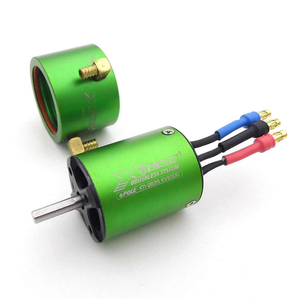 1Set 2835 Brushless Motor Kit 3300KV 4.0mm Shaft Motor//20-25 Water-cooled