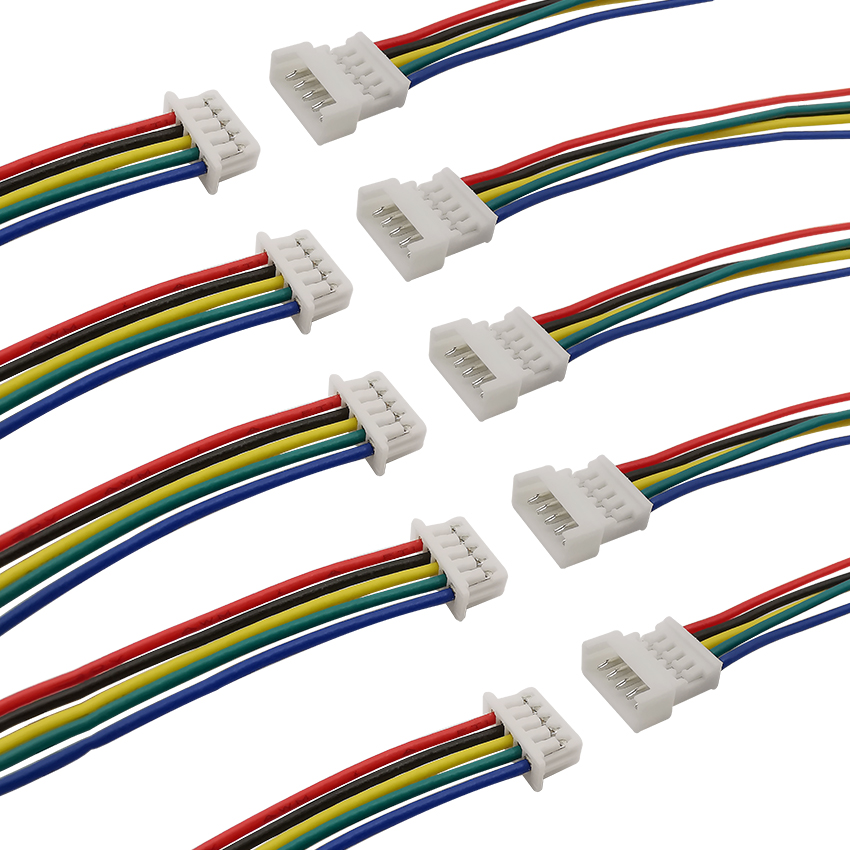 10/5Pairs <font><b>JST</b></font> PH 1.25 5Pin Plug Jack Wire Connectors Pitch <font><b>1.25mm</b></font> <font><b>Micro</b></font> Male Female Terminals Wire Cable Connector Length 15CM image