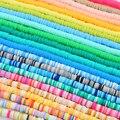 Плоские круглые бусины из полимерной смолы для изготовления украшений, браслетов, 4/6 мм, 350 шт./лот