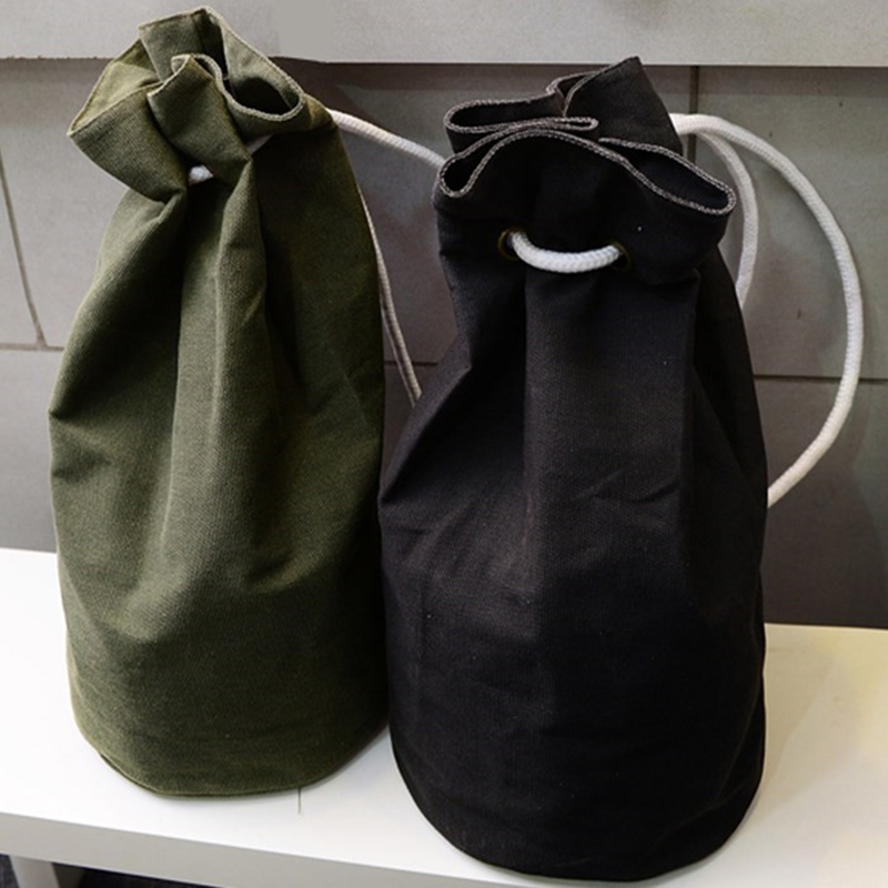 Drawstring Bags Momen Men Cavans Bag Outdoor Casual Drawstring Backpack