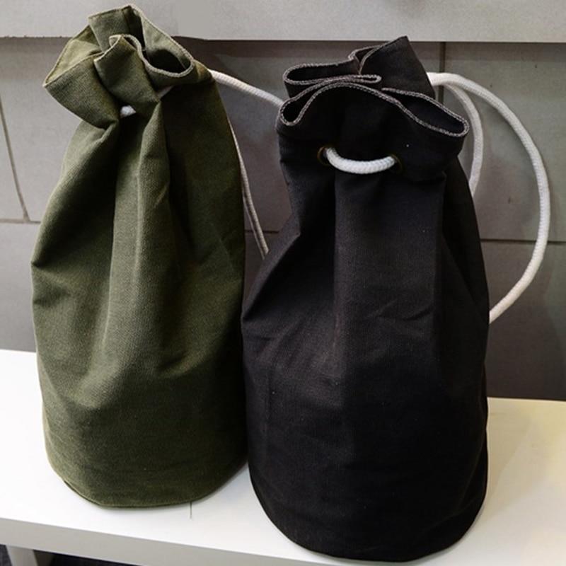 Drawstring Bags Momen Men Cavans Bag Outdoor Casual Drawstring Backpack