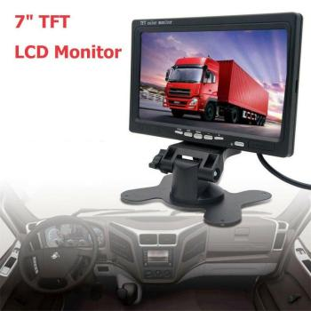 7 Inch TFT LCD Car Monitor Wired Camera Reverse Parking System Rearview Mirror Monitors Support DVD Electronics