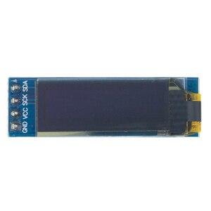 """Image 5 - 10 adet 0.91 inç OLED modülü 0.91 """"mavi OLED 128X32 OLED LCD LED ekran modülü 0.91"""" IIC iletişim D34"""