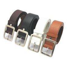 Cinturón informal de piel sintética para hombre, cinturón de lujo de alta calidad, con hebilla de Pin, 2021