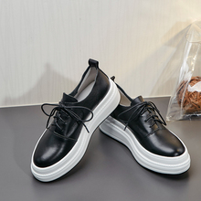 Flats-Sneakers Brogues-Shoes Oxfords Women's Platform Comfortbale Female Genuine-Leather