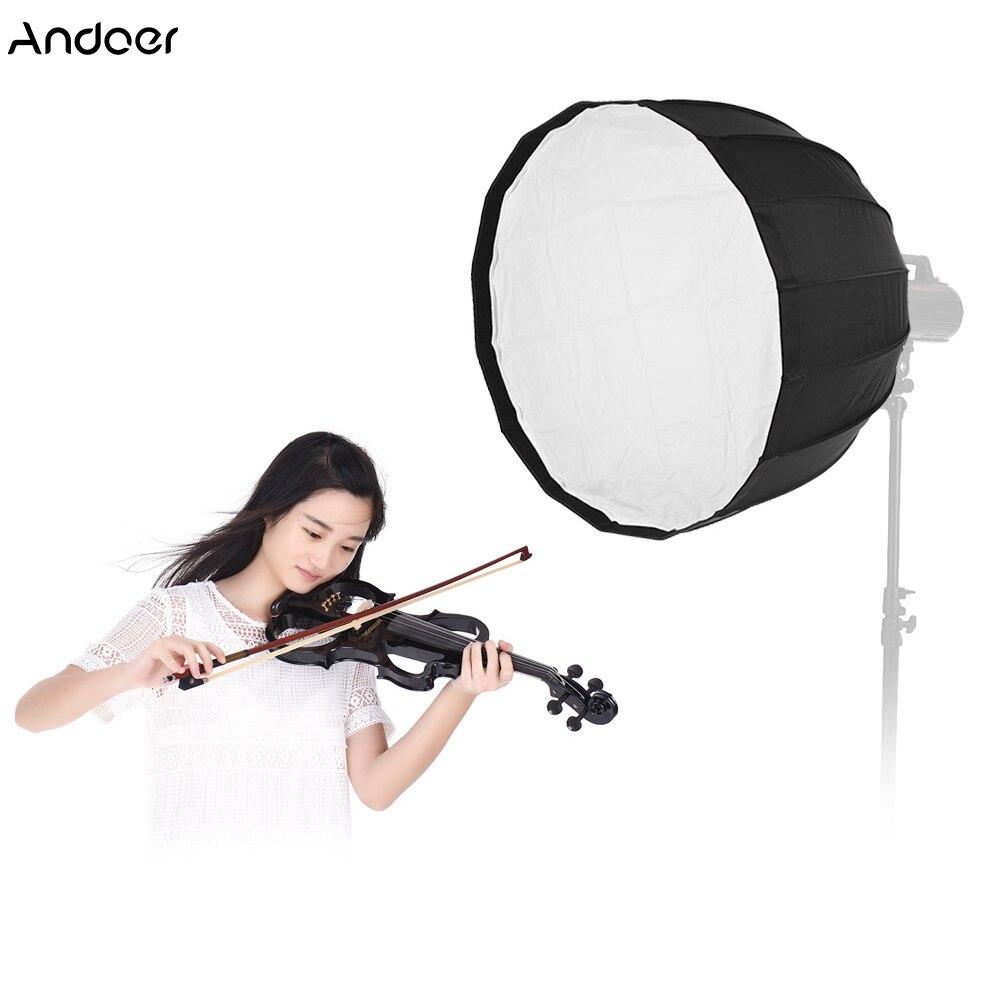 Softbox parabolique profonde portative de parapluie de 60/90cm 16 tiges pour la lumière Flash de Studio de bâti de Bowens pour la Softbox d'épi 120D d'aputure