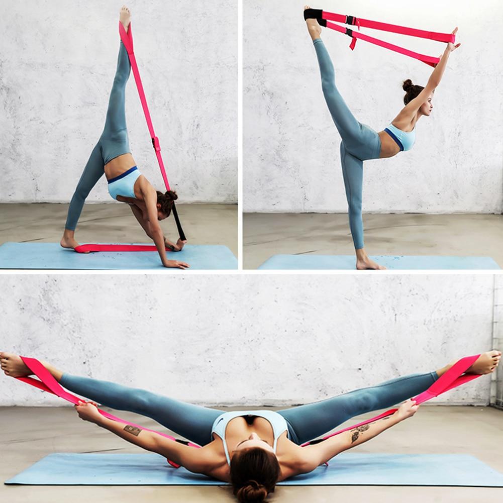 Press Brace Stretch Bodybuilding Resistance Band Adjustable Length With Buckle Portable Dance Yoga Belt Splits Leg Sports