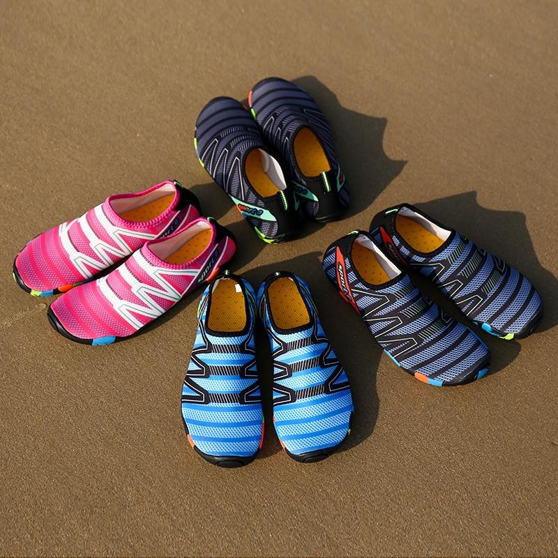 Пляжная обувь унисекс для детей, быстросохнущая детская акваобувь для плавания, пляжные тапочки, легкие кроссовки для серфинга и восхожден...