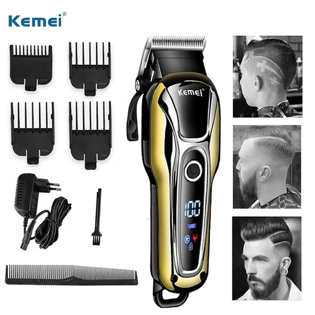 Professional Digital Hair Clipper Professional Hair Trimmer For Men Beard Electric Cutter Hair Cutting Machine Haircut Cordless