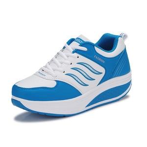 Image 2 - COWCOM chaussures de sport en cuir pour femmes, chaussures de sport et automne CYL 875