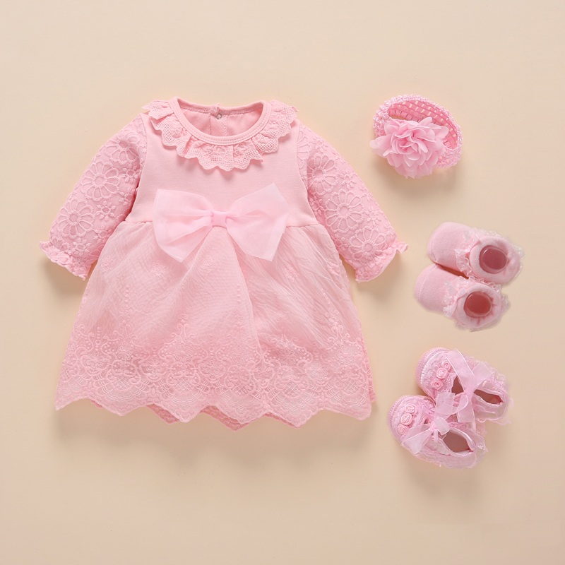 New Born Baby Girl Clothes 2019 Vestidos Christening Dress For Baby Girl Cotton Princess Baby White Baptism Dresses 3 6 9 Months