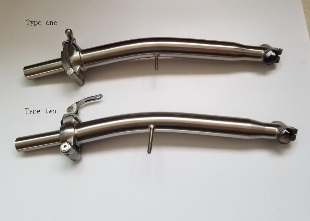 TITANIUM S stem for Brompton for 25.4mm handbar