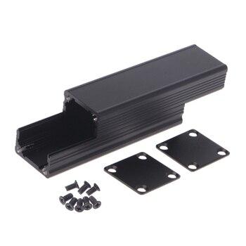 Алюминиевый футляр для электронных приборов, черный футляр для инструментов, 80x25x25 мм