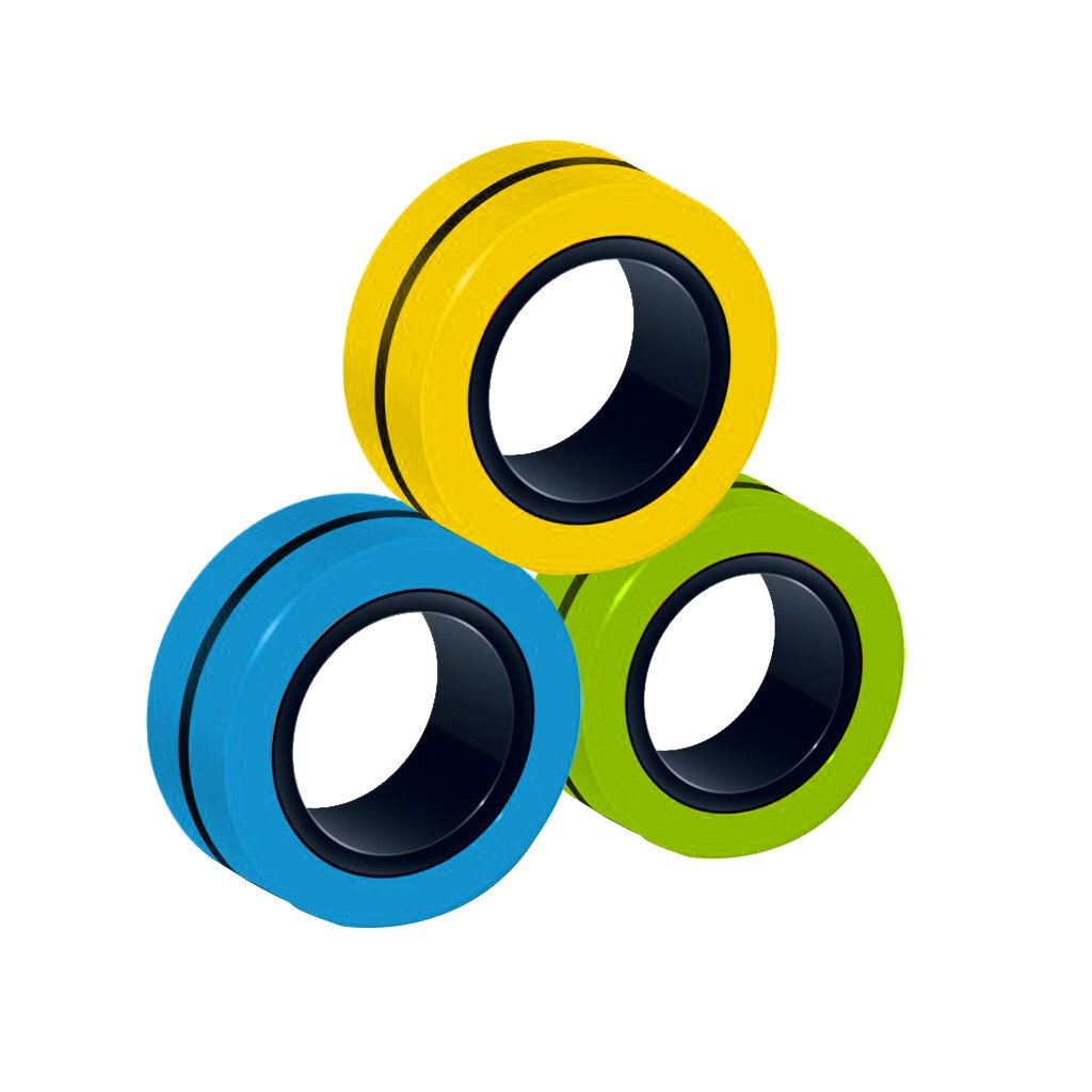 Toy Fidget-Toys Magic-Ring-Props Stress Magnetic Unzip 3pcs Zabawki img2