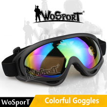 High Strength Outdoor Cycling Climbing Ski Suitable For Tactical Colorful Goggles Anti-glare PC Safety Glasses