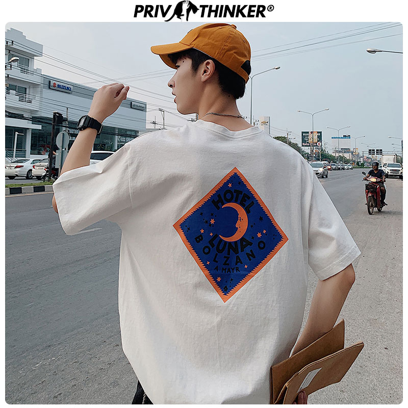 Privathinker Men Casual O-Neck Printed Tshirt Men's Summer Unisex Harajuku T-Shirt Male Loose Korean Japan T-shirts Clothes 2020