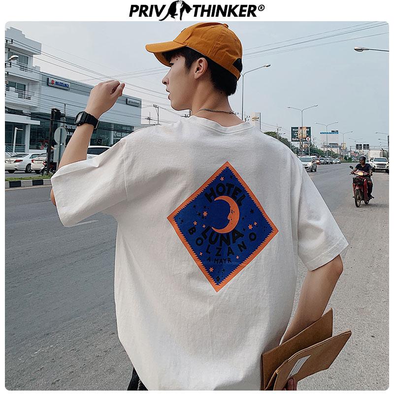 Privathinker Men Casual O-Neck Printed Tshirt Men's Summer Unisex Harajuku T-Shirt Male Loose Korean Japan T-shirts Clothes 2020