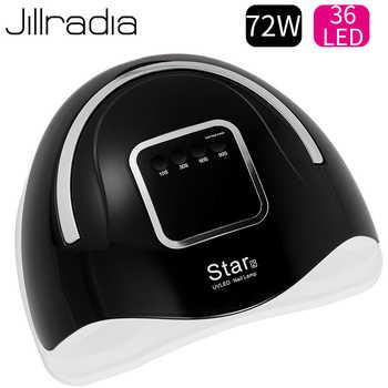 Jillradia 72W Nail Varnish Lamp Nail Gel Dryer UV Polish Lamp For Drying All Gel Art Manicure For Home Use DIY Gel Tool Design