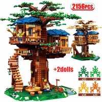 2156 pièces les plus grandes idées modèle briques pour les amis legoely quatre saisons arbre maison modèle blocs de construction jouets pour les enfants