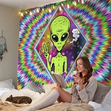 Tapestry Psychedelic Home-Decoration Background-Cloth Dormitory Bedroom Alien Bedside